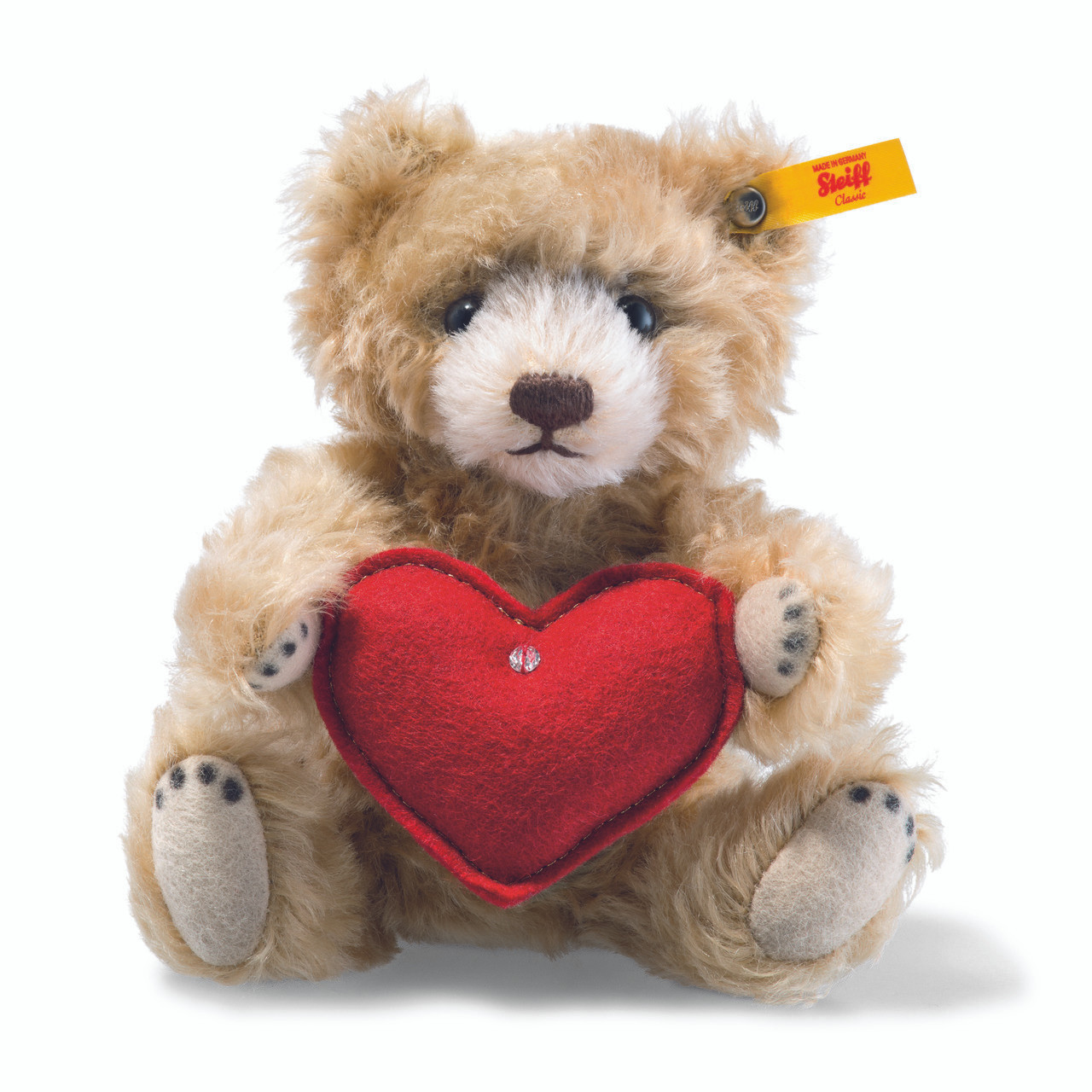 teddy bear with heart steiff online shop usa. Black Bedroom Furniture Sets. Home Design Ideas