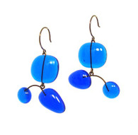 Leah Pellegrini Glass Mobile Earrings in Blue