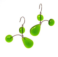 Leah Pellegrini Glass Mobile Earrings in Green