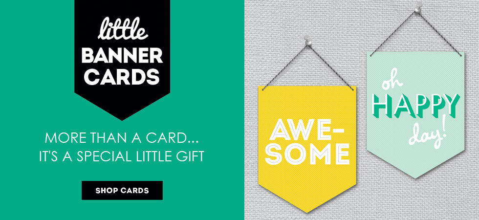 New! Banner Cards at Rock Scissor Paper
