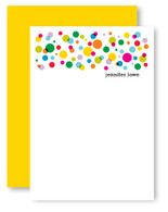 Rainbow Polka Dots Personalized Stationery