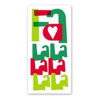 Fa La La La Holiday Card by Rock Scissor Paper