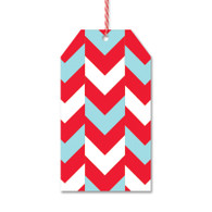 Holiday Chevron Gift Tags