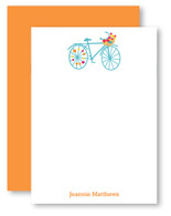 Flower Basket Bike Personalized Stationery
