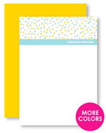 Confetti Dots Personalized Stationery