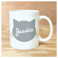 Cat Silhouette Personalized Mug