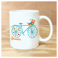 Flower Bike Personalized Mug