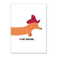 Doxie Cowboy Valentine's Day Card