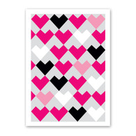Heart Pattern Valentine's Day Card