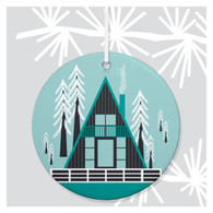 A-Frame House Holiday Ornament by Rock Scissor Paper