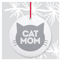 Cat Mom Holiday Ornament by Rock Scissor Paper