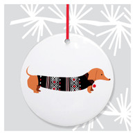Doxie Holiday Ornament by Rock Scissor Paper
