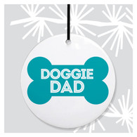 Doggie Dad Holiday Ornament by Rock Scissor Paper!