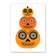Pumpkin Stack Halloween Card by Rock Scissor Paper