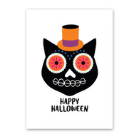 Day of the Dead Cat Halloween Car by Rock Scissor Paper
