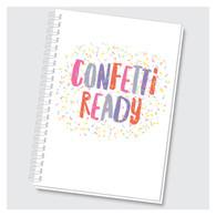 Confetti Ready Journal by Rock Scissor Paper
