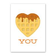 Heart Waffle Love Card