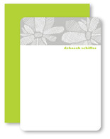 Crosshatch Floral Personalized Stationery