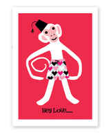 Monkey Around Valentine's Day Card