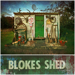 Old NZ Blokes Shed photograph, Kiwiana NZ art print for sale by Lucy G.