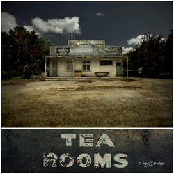 Tea Rooms' - old New Zealand building photograph, Kiwiana NZ art print for sale by Lucy G.