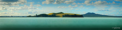 Motukorea / Brown's Island', Rangitoto landscape photograph from Auckland, NZ - print for sale.