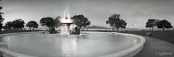Mission Bay fountain (bw, to 1.4m)