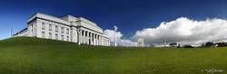 Museum A', Auckland Museum building, The Domain, New Zealand - landscape photo print for sale.