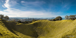 Mount Eden Crater, Auckland, New Zealand - landscape photography print for sale by Lucy G.