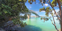 Harbour Bridge, panormamic landscape photo print of Auckland Harbour Bridge, NZ - print for sale.