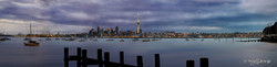 Early Rise', Auckland, New Zealand cityscape showing the skyline and Skytower - landscape photo print for sale.
