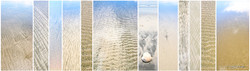Le Sable', panoramic photo print collage for sale featuring close up photos of sand textures by Lucy G
