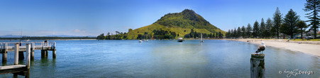 Mount Maunganui, Tauranga, NZ showing Pilot Bay - landscape photo print for sale.