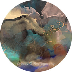 'Celestial sky' art wall dot