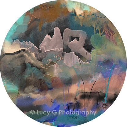Wall decal - 'Midnight Mountains 2'