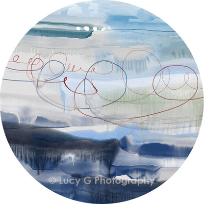 ROUND WALL DECAL - 'Winter Wonders'