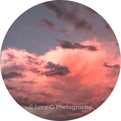 Round wall decal - 'Fiji Sunset'