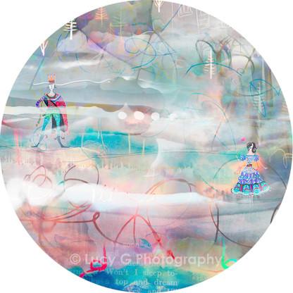 ROUND WALL DECAL - 'Wonderland B'