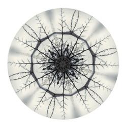 Kowhaiwhai Mandela - circular NZ art print