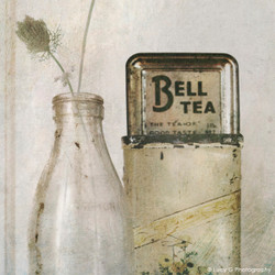 'Don't cry have a tea!'' -  vintage NZ bell  tea artwork (canvas wall art / framed print)