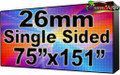 """Outdoor Full Color LED Programmable Sign - Front Access - Single Sided - 26.66mm- 75.59"""" x 151.18""""- 5 Year Warranty"""