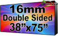 "Double Sided Outdoor Full Color LED Programmable Sign - Front Access - 16mm- 37.8"" x 75.59""- 5 Year Warranty"