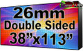 "Double Sided Outdoor Full Color LED Programmable Sign - Front Access - 26.66mm- 37.8"" x 113.39""- 5 Year Warranty"