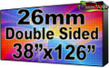 "Double Sided Outdoor Full Color LED Programmable Sign - Front Access - 26.66mm- 37.8"" x 125.98""- 5 Year Warranty"