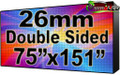 "Double Sided Outdoor Full Color LED Programmable Sign - Front Access - 26.66mm- 75.59"" x 151.18""- 5 Year Warranty"