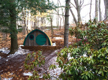 """The Big Merry Hobbit Hole comes with a 40"""" diameter round front door and a 16"""" diameter round front window."""