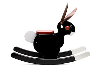 Rocking Rabbit (Black) by Playsam