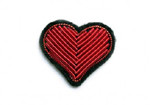 MACON & LESQUOY SMALL HEART PIN (RED)