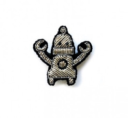MACON & LESQUOY SMALL ROBOT PIN (SILVER)
