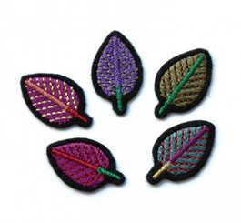 MACON & LESQUOY SET OF 5 LEAVE PATCHES